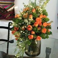 Розы - Цветок в вазах
