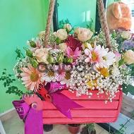 Pink Elegance - Box with flowers